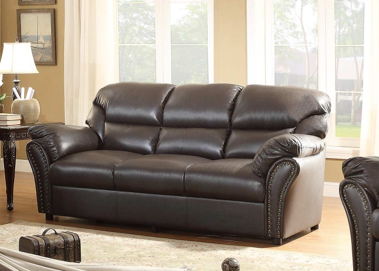 Stinett Sofa - Dark Brown