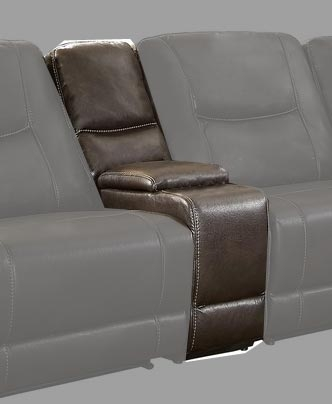 Columbus Console - Breathable Faux Leather - Dark Brown