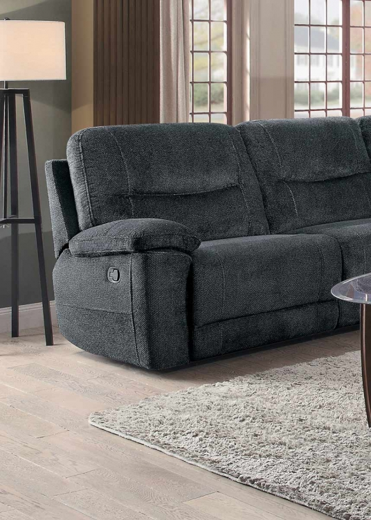Clarke Fabric Sectional Sofa Living Room: Homelegance Columbus Reclining Sectional Set
