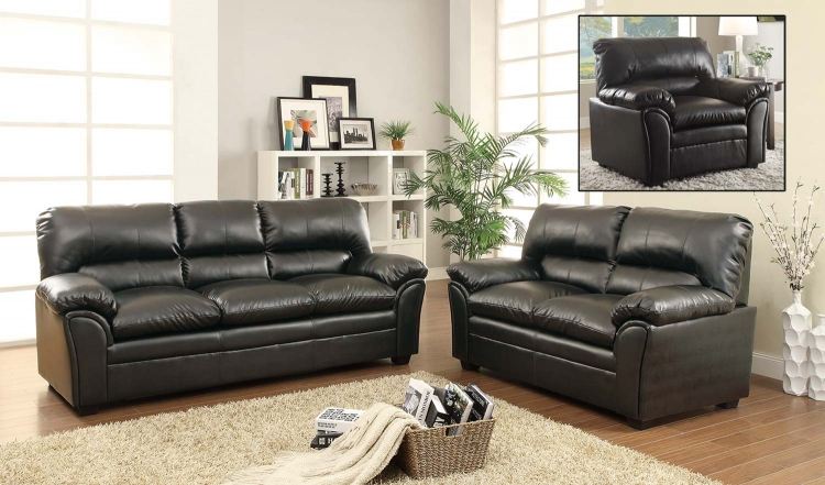 Talon Sofa Set - Black