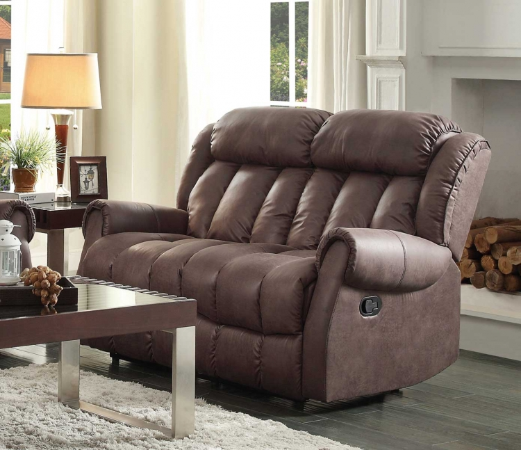 Mankato Double Reclining Love Seat - Chocolate