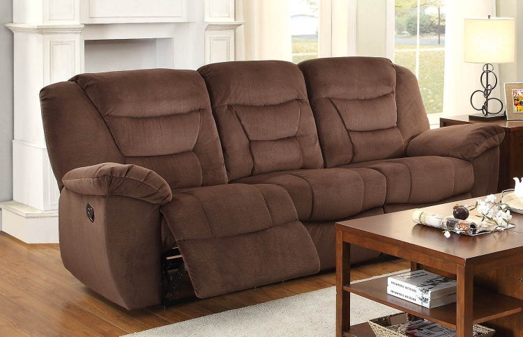 Cardwell Double Reclining Sofa - Chocolate