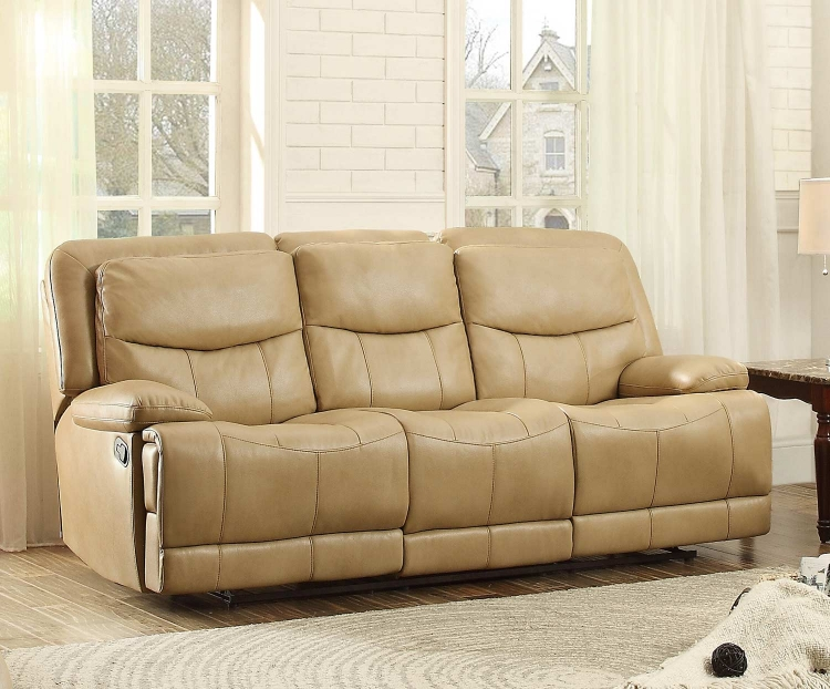 Risco Double Reclining Sofa - Honey Taupe