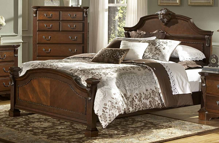Legacy Bed - Brown Cherry