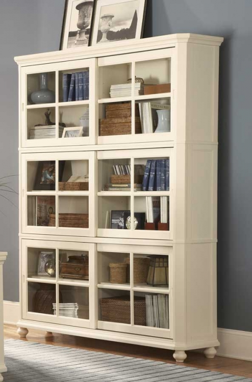 Hanna Book Case Set White - Homelegance