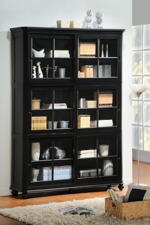Hanna Book Case Set Black - Homelegance