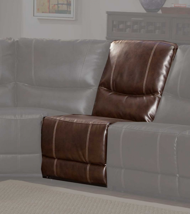 Gerald Armless Chair - Brown - Bonded Leather Match
