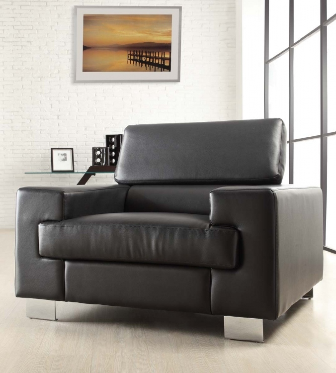 Vernon Chair - Black - Bonded Leather - Homelegance