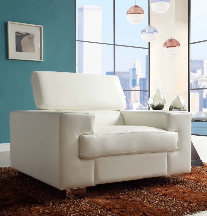 Vernon Chair - White - Bonded Leather - Homelegance