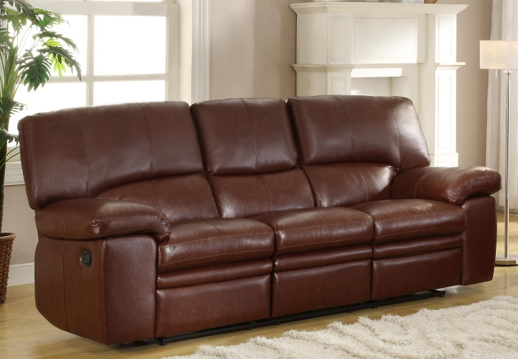 Kendrick Double Recliner Sofa - Brown - Bonded Leather Match - Homelegance