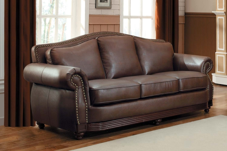 Midwood Bonded Leather Sofa - Dark Brown - Homelegance