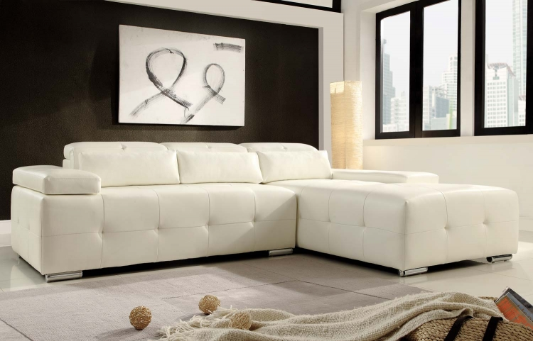 Amare Sectional Sofa - White - Homelegance
