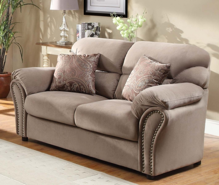 Valentina Love Seat - Brown - Homelegance
