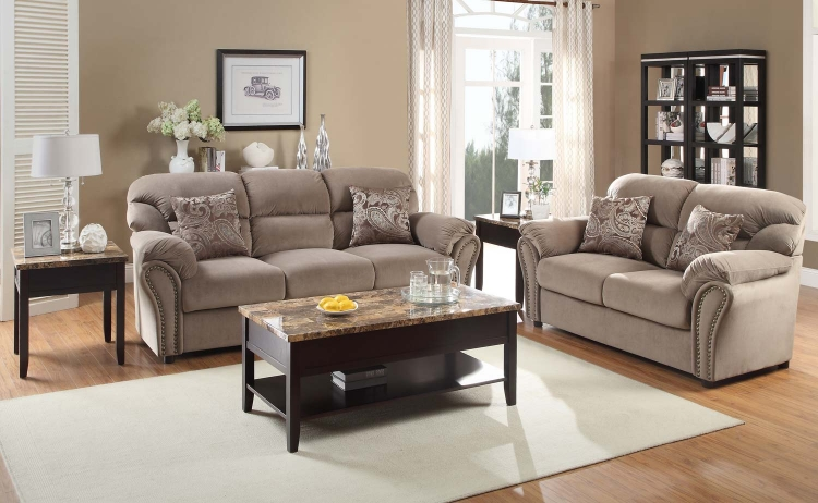 Valentina Sofa Collection - Brown - Homelegance