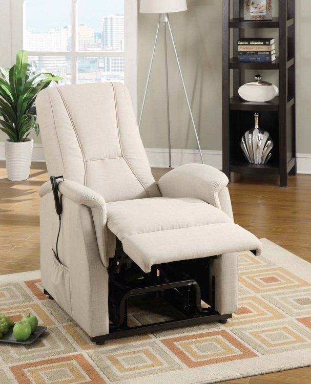 Glenson Power Lift Chair - Beige - Linen
