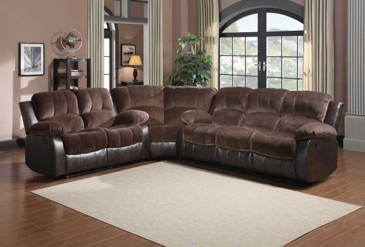 Cranley Sectional Sofa - Chocolate
