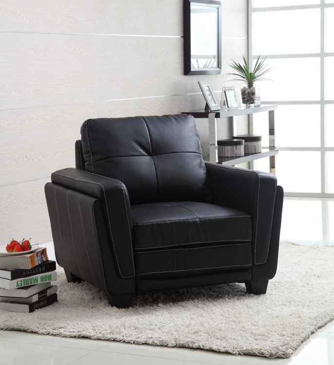 Dwyer Chair - Black Bi-Cast - Homelegance
