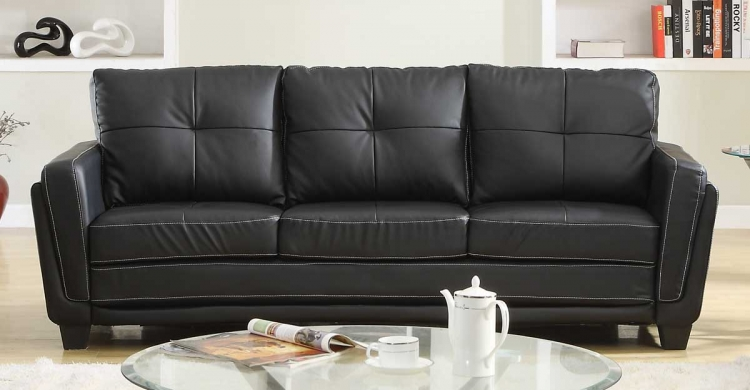 Dwyer Sofa - Black Bi-Cast - Homelegance