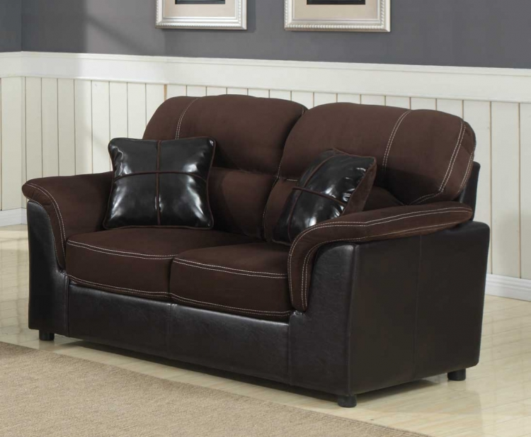 Lombard Love Seat - Microfiber and Bi-Cast - Homelegance