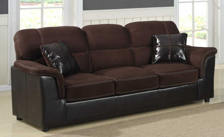 Lombard Sofa - Microfiber and Bi-Cast - Homelegance