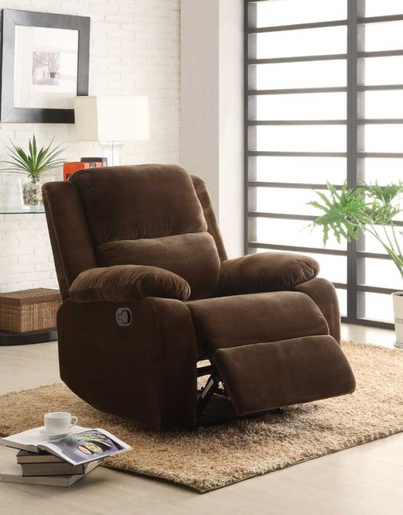 Snyder Reclining Chair - Coffee Microfiber - Homelegance