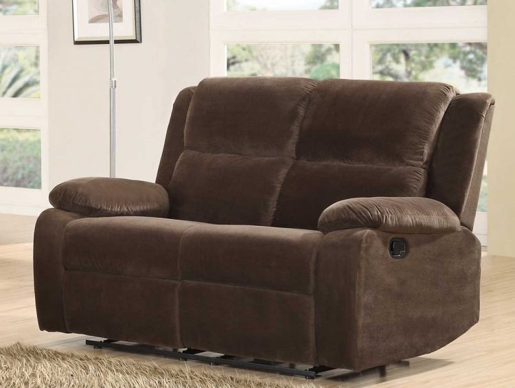 Snyder Double Reclining Love Seat - Coffee Microfiber