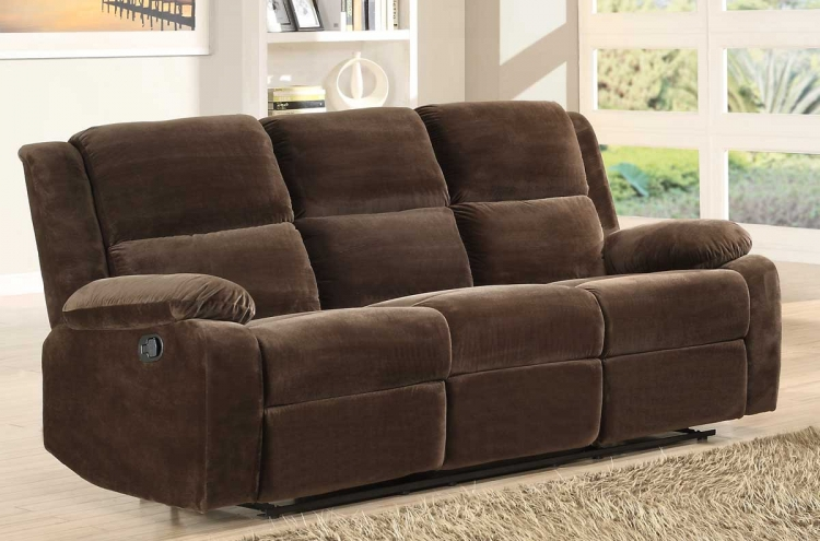 Snyder Double Reclining Sofa - Coffee Microfiber - Homelegance