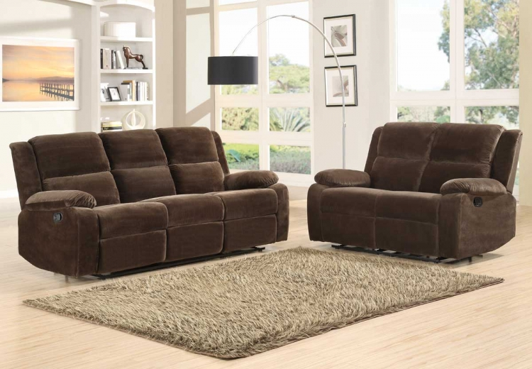 Snyder Reclining Sofa Set - Coffee Microfiber - Homelegance