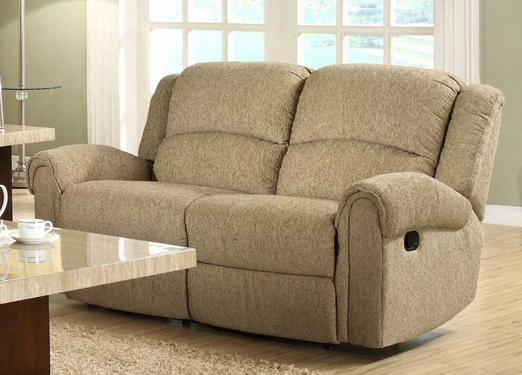 Esther Double Reclining Love Seat - Beige Chenille