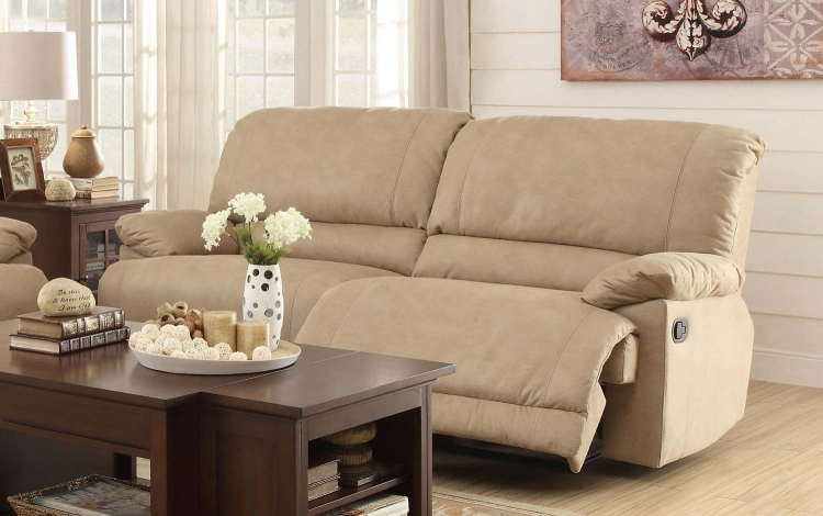 Elsie Double Reclining Sofa - Camel