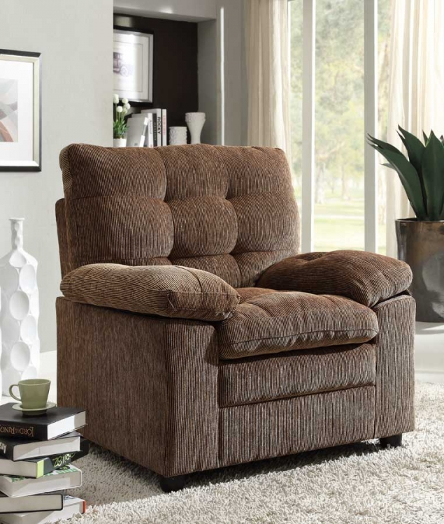 Charley Chair - Golden Brown Chenille - Homelegance