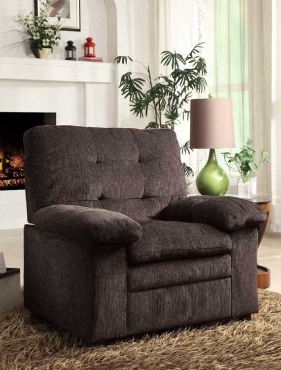 Charley Chair - Chocolate Chenille - Homelegance