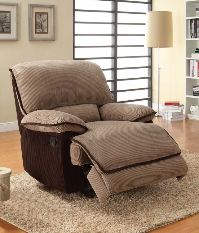 Grantham Chair Glider Recliner - Brown - Corduroy - Homelegance