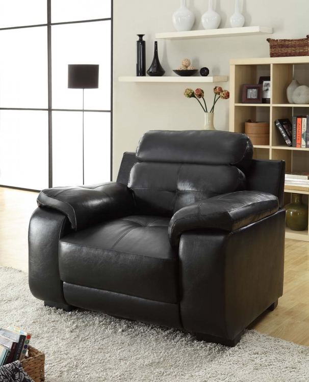Zane Chair - Black - All Bonded Leather