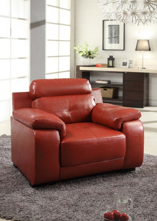 Zane Chair - Red - All Bonded Leather