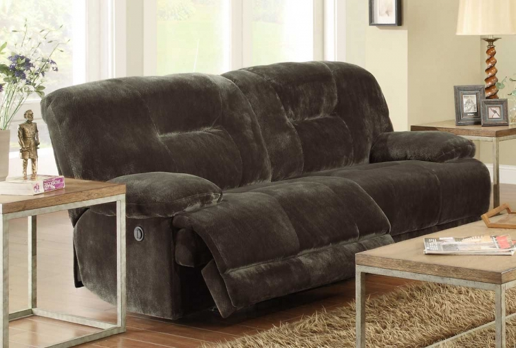 Geoffrey Power Double Reclining Sofa - Homelegance