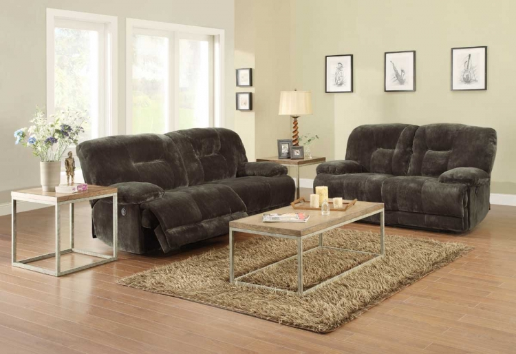 Geoffrey Power Reclining Sofa Set - Homelegance