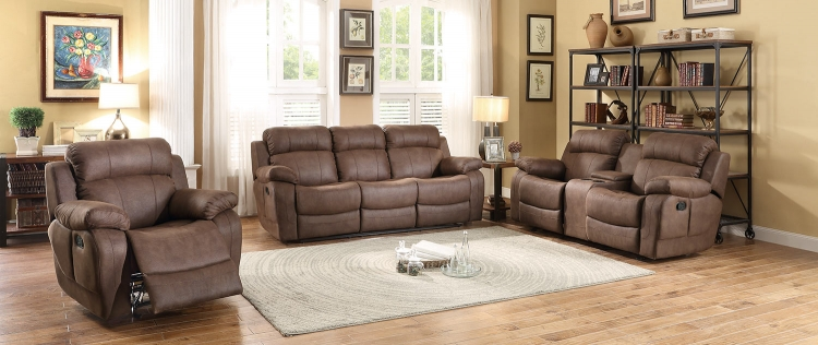 Marille Reclining Sofa Set - Dark Brown