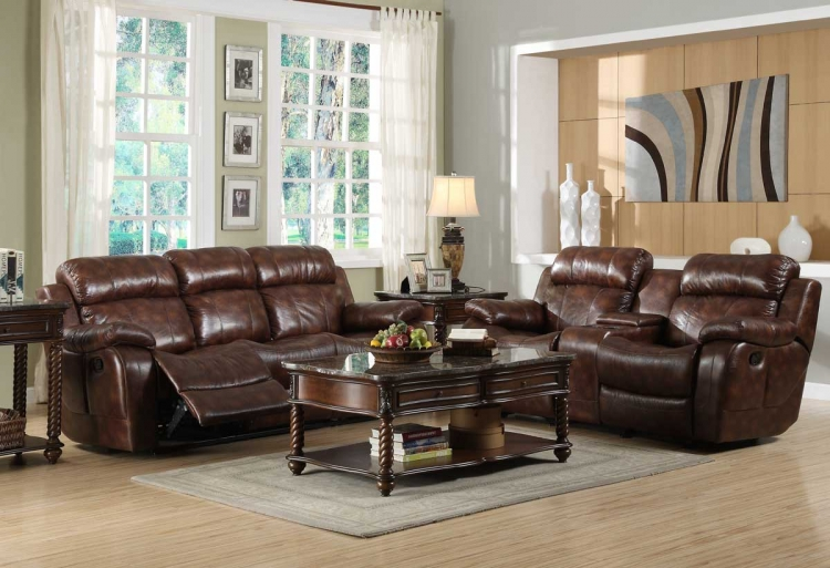 Marille Reclining Sofa Set - Polished Microfiber - Homelegance