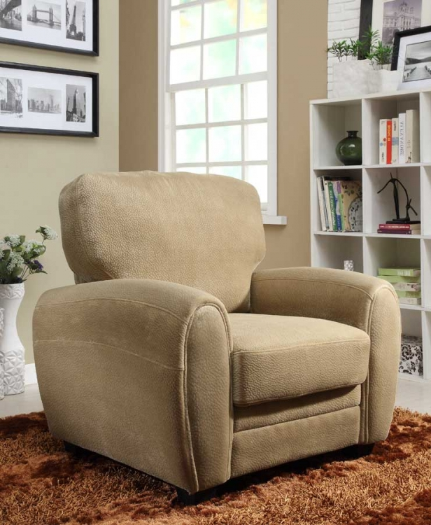 Rubin Chair - Brown Textured Microfiber - Homelegance