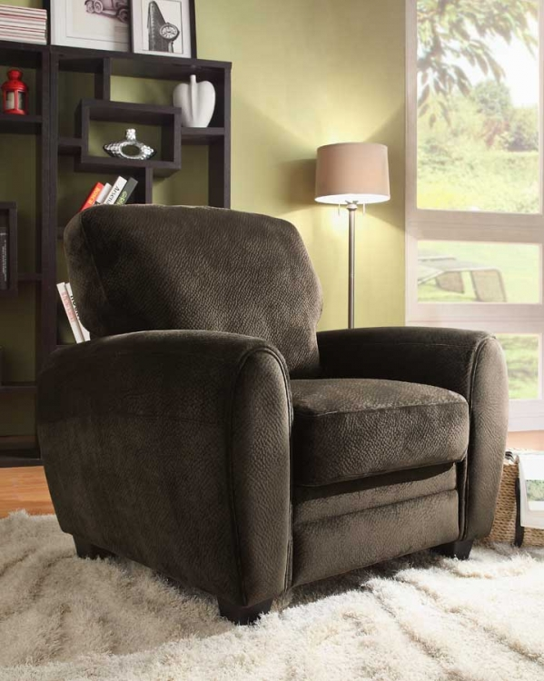 Rubin Chair - Chocolate Textured Microfiber - Homelegance
