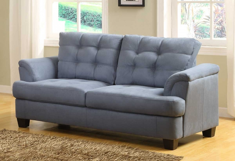 St. Charles Love Seat - Blue Gray - Homelegance