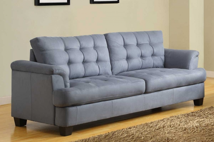 St. Charles Sofa - Blue Gray - Homelegance