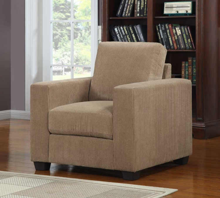Paramus Chair - Brown Corduroy - Homelegance