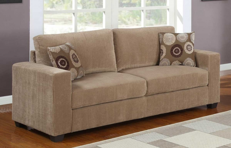 Paramus Sofa - Brown Corduroy - Homelegance