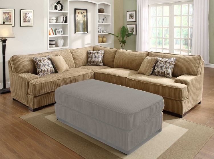 Minnis Sectional Sofa - Brown - Homelegance
