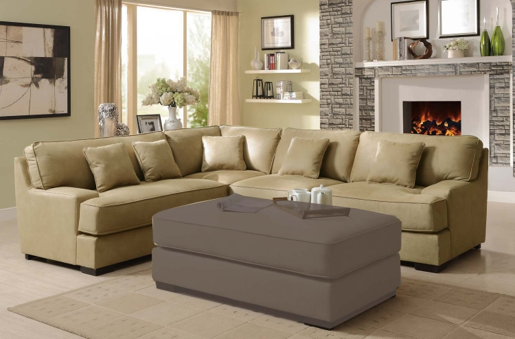 Minnis Sectional Sofa - Beige