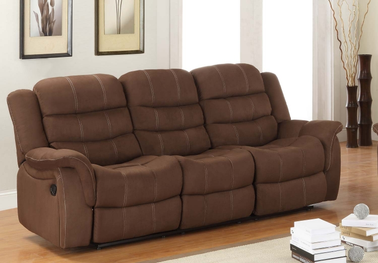 Huxley Sofa Double Recliner - Chocolate