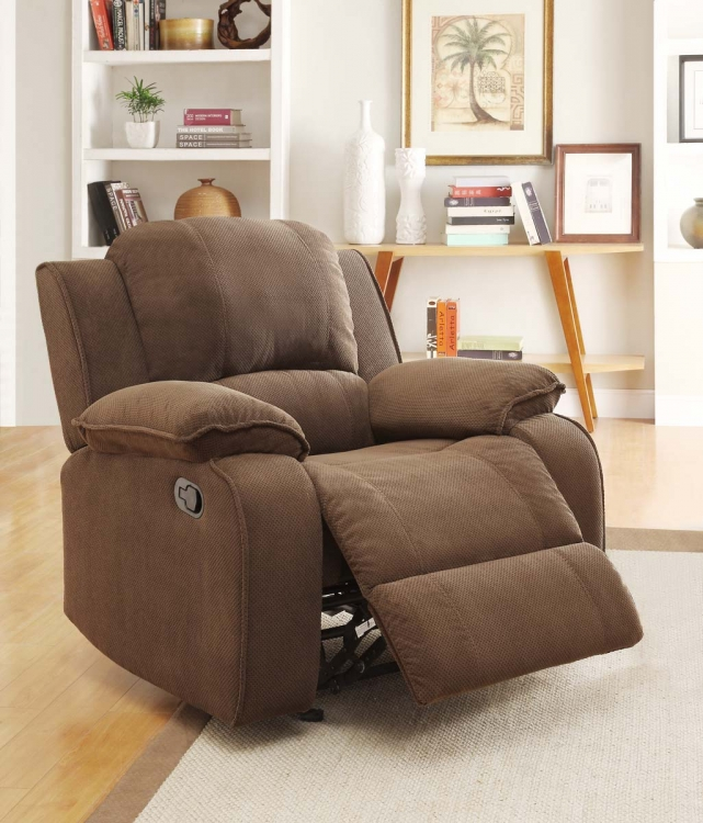 Barone Chair Glider Recliner - Dark Brown - Homelegance