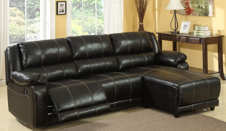 Paul Motion Sectional Sofa - Dark Brown - Homelegance